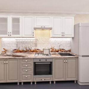"""Кухня """"Юлия"""" 2,6м с фасадами из глянцевых панелей МДФ(плёнка)"""