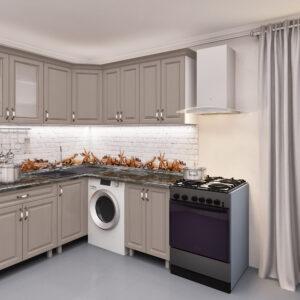 Угловая кухня 1,8х1,8м с фасадами из панелей МДФ (плёнка)