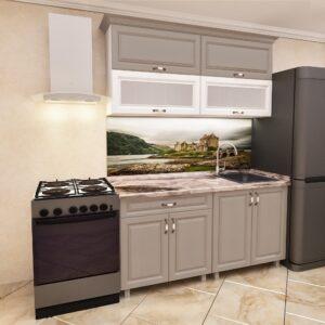 """Кухня """"Мини Модерн"""" 1,2м с фасадами из МДФ(плёнка) с стеклом"""
