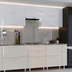 """Кухня """"Квадро"""" 3.0м с фасадами из глянцевых панелей МДФ (High Gloss)"""