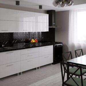 Кухня Blum 2,4м с фасадами из глянцевых панелей МДФ (High Gloss)