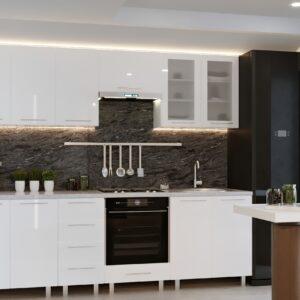 """Кухня """"Юлия"""" 2,6м с фасадами из глянцевых панелей МДФ (High Gloss)"""