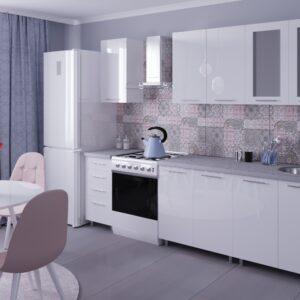 """Кухня """"Лена"""" 2.0м с фасадами из глянцевых панелей МДФ (High Gloss)"""