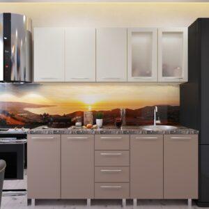 """Кухня """"Лена"""" 1,8м с фасадами из глянцевых панелей МДФ (High Gloss)"""