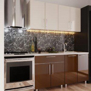"Кухня ""Мини"" 1.6m с фасадами из глянцевых панелей МДФ (High Gloss)"