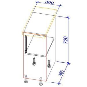 Нижний кухонный шкаф NS-30