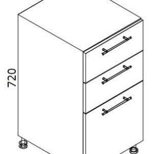 Нижний кухонный шкаф NS-40(3)