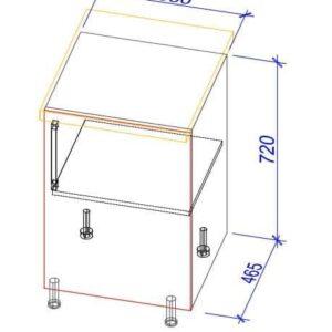 Нижний кухонный шкаф NS-50