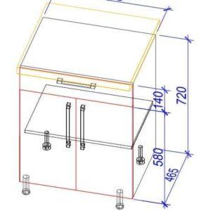 Нижний кухонный шкаф NS-60(1)