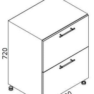 Нижний кухонный шкаф NS-60(2)