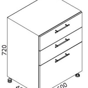 Нижний кухонный шкаф NS-60(3)