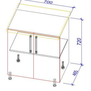 Нижний кухонный шкаф NS-70