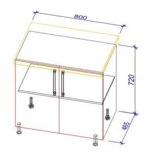 Нижний кухонный шкаф NS-80