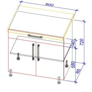 Нижний кухонный шкаф NS-80(1)