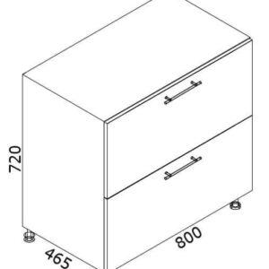 Нижний кухонный шкаф NS-80(2)