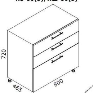 Нижний кухонный шкаф NS-80(3)