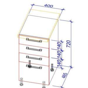 Нижний кухонный шкаф NS(eas)-40