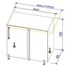 Нижний кухонный шкаф NS(f)-100