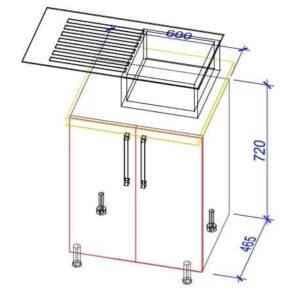 Нижний кухонный шкаф NS(m)-60