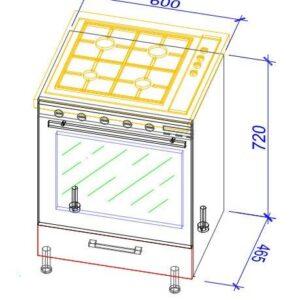Нижний кухонный шкаф NS(pl)-60