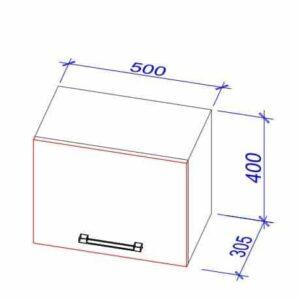 Верхний кухонный шкаф Okap-50/Окап-50