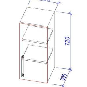 Верхний кухонный шкаф VS-30/ВШ-30