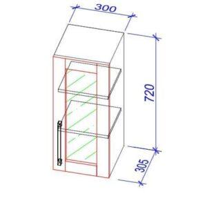 Верхний кухонный шкаф VS-30b/ВШ-30б