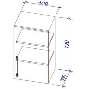 Верхний кухонный шкаф VS-40/ВШ-40