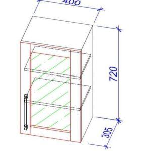 Верхний кухонный шкаф VS-40b/ВШ-40б