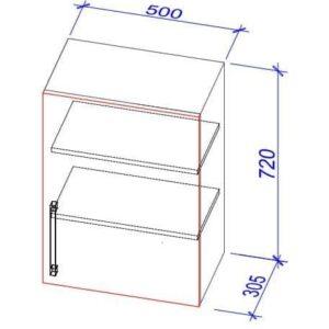 Верхний кухонный шкаф VS-50/ВШ-50