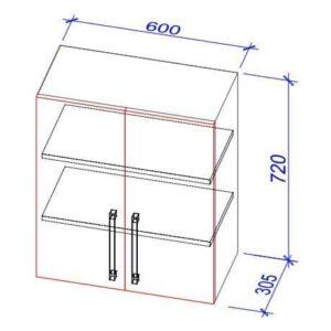 Верхний кухонный шкаф VS-60/ВШ-60