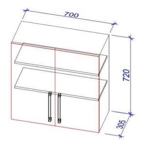 Верхний кухонный шкаф VS-70/ВШ-70