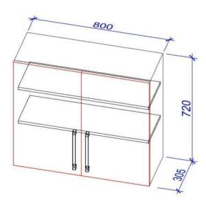Верхний кухонный шкаф VS-80/ВШ-80