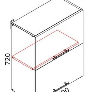 Верхний кухонный шкаф VSV-60(2)/ВШВ-60(2)