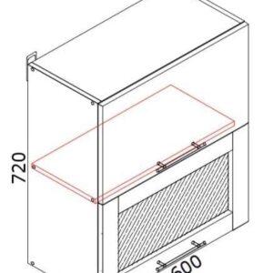 Верхний кухонный шкаф VSV-60(2)b/ВШВ-60(2)б