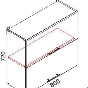 Верхний кухонный шкаф VSV-80(2)/ВШВ-80(2)