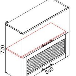 Верхний кухонный шкаф VSV(b)-80(2)/ВШВ(б)-80(2)