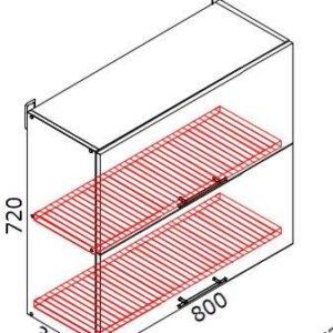 Верхний кухонный шкаф VSV(с)-80(2)/ВШВ(с)-80(2)